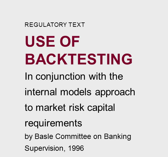 Use of backtesting - Riskdata