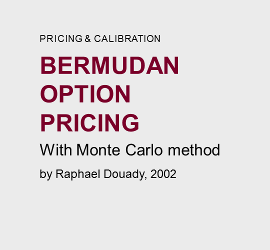 Bermudan  option  pricing