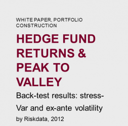 Hedge  Fund  returns  &  Peak  to  valley