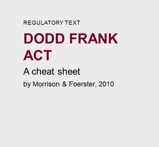The  Dodd-Frank  Act